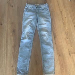 Retro high Garage light wash skinny jeans size 1